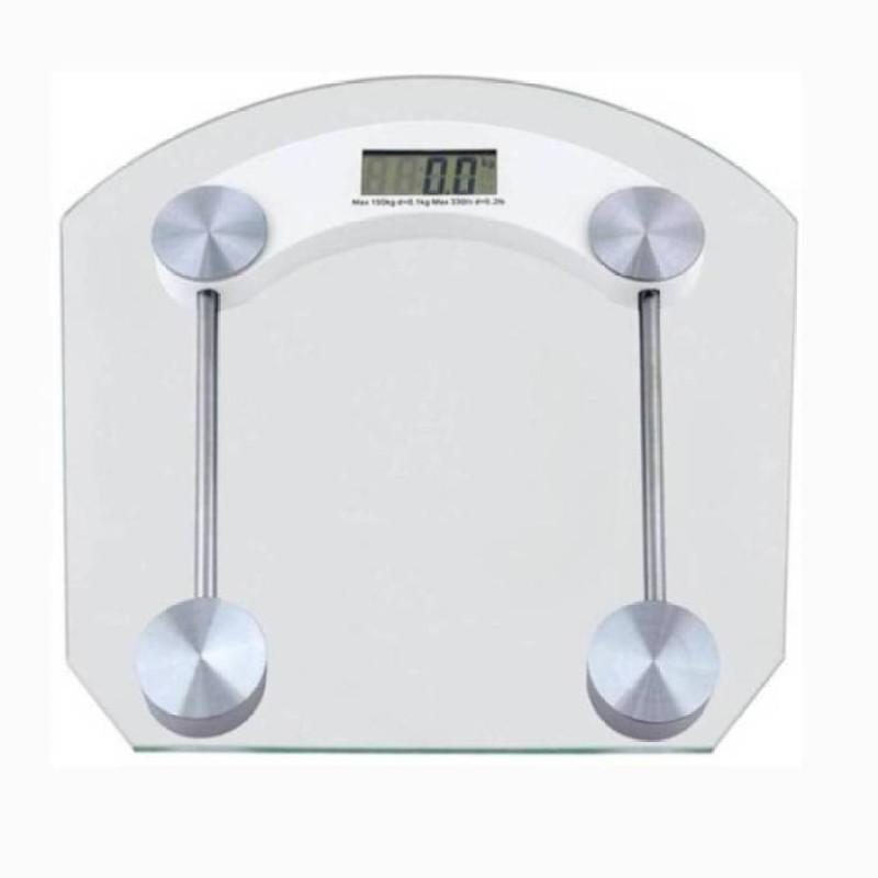 Mezire ®Electronic Durable Digital Square Weighing Scale (White) Weighing Scale(Transparent)