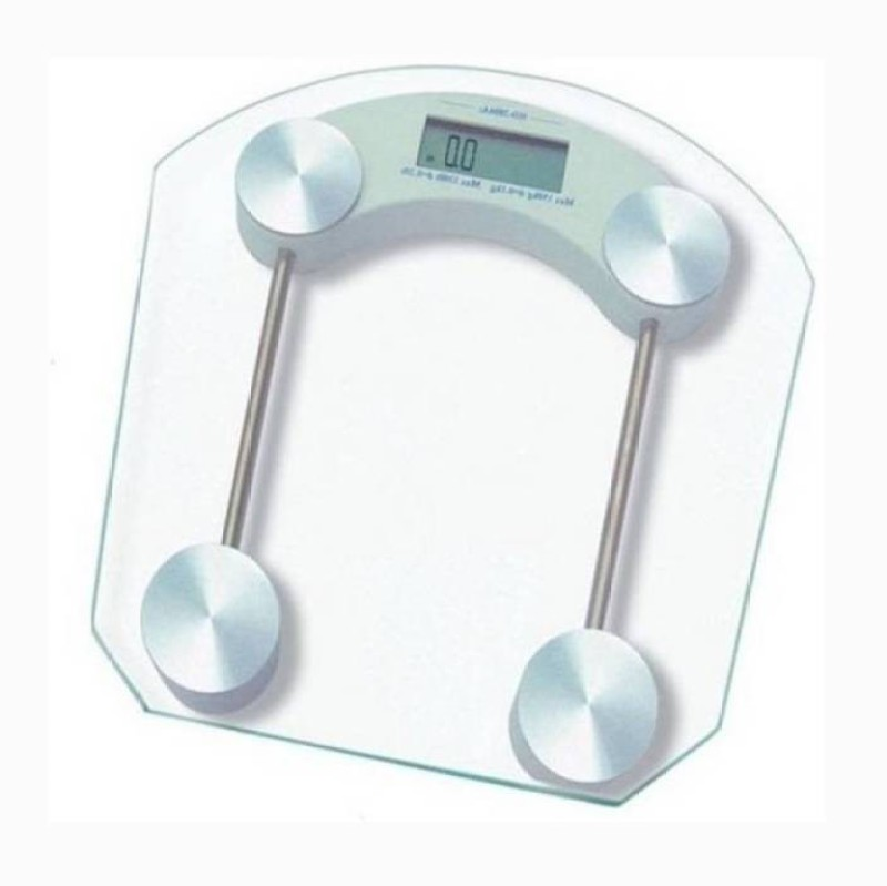 Mezire ™Square Thick Tempered Glass Electronic Digital Body Weight Weighing Scale  (Transparent) Weighing Scale(Transparent)