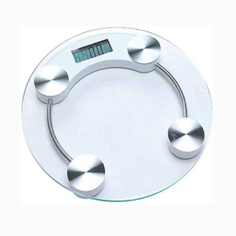 Mezire Digital Glass Weight Measurement Machine (Kgs/Lbs) Weighing Scale (White) Weighing Scale (TRANSPARENT)  Weighing Scale(Transparent)
