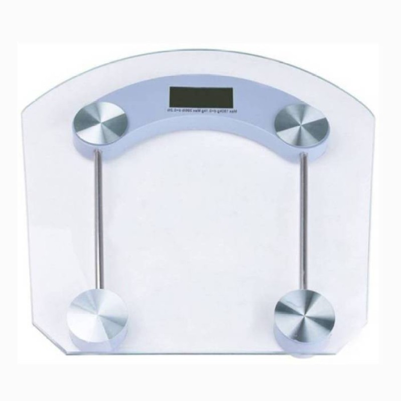 Mezire  ®Strong Transparent Square Weighing Scale (White)  Weighing Scale(Transparent)