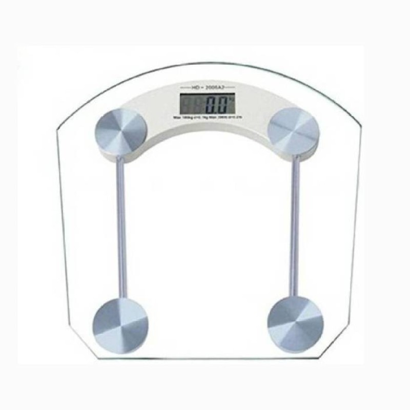 Mezire ®Glass Weighing Scale (Multicolor)  Weighing Scale(Transparent)