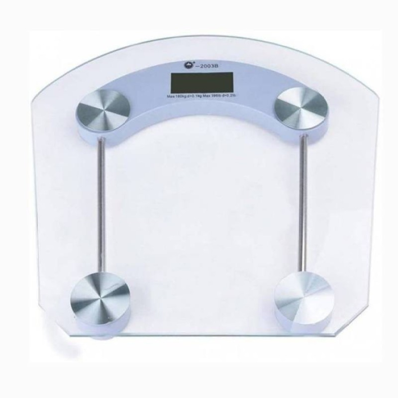 Mezire ®Digital Personal Bathroom Weighing Scale Machine 180 KG With Backlit LCD Display Weighing Scale (White) Weighing Scale(Transparent)