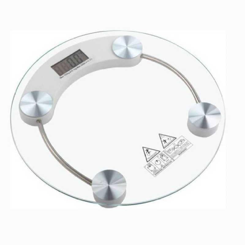 Mezire ®Transparent Round Weighing Scale (White) Weighing Scale(Transparent)