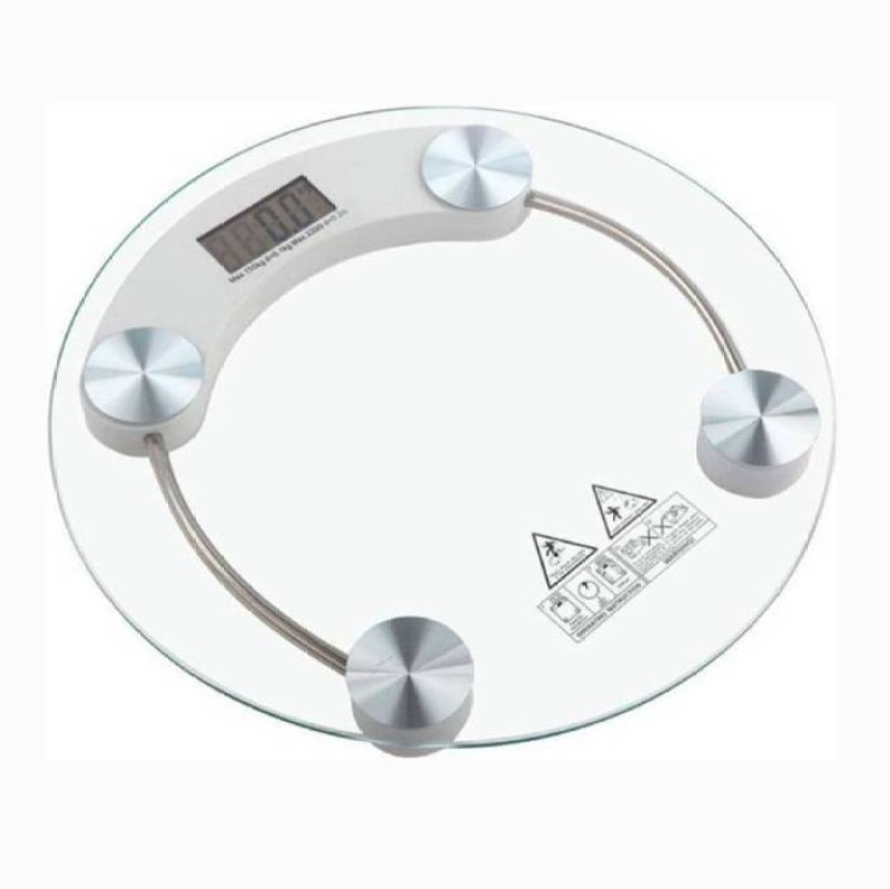 Mezire  ®New Electronic Digital LCD Body health Check Up Fitness Weighing Scale Weighing Scale  (Clear) Weighing Scale(Transparent)