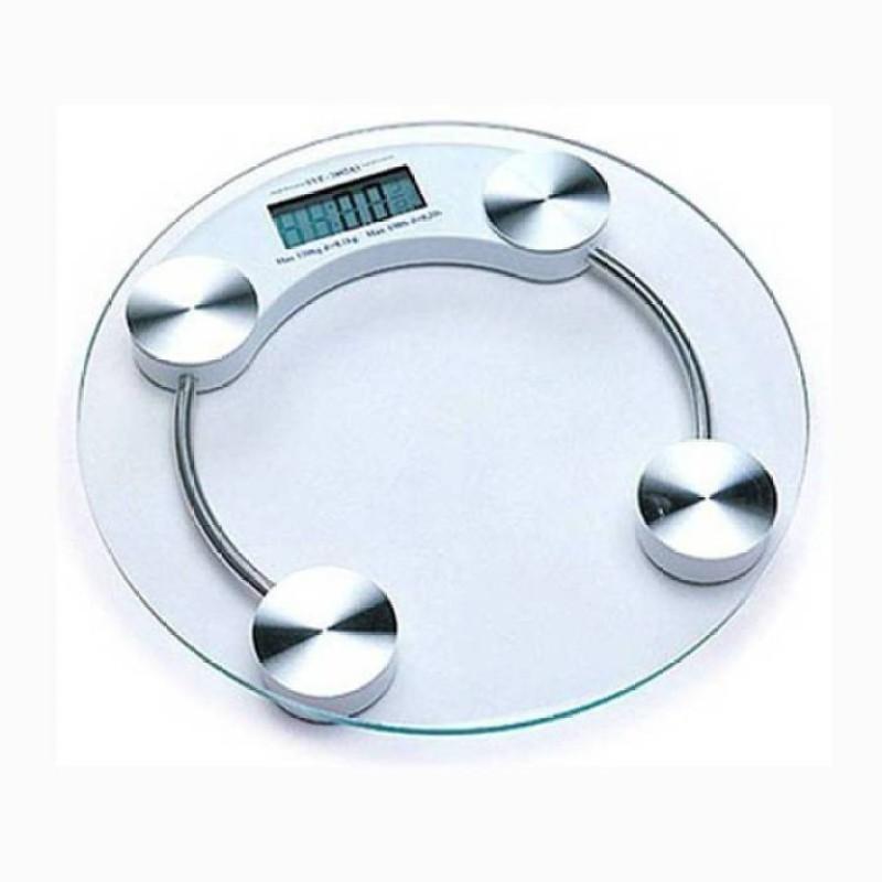 Mezire ™ Personal Weight Machine 6mm Round Glass Weighing Scale Weighing Scale (Transparent) Weighing Scale(Transparent)