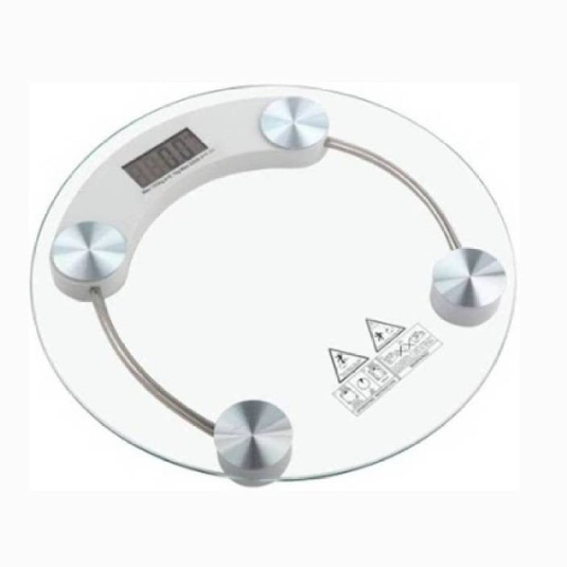 Mezire Digital Thick Glass Body Round Weighing Scale (Transparent)  Weighing Scale(Transparent)