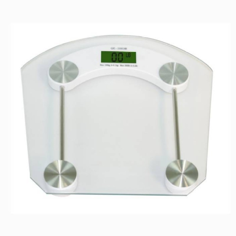 Mezire ®Personal Digital Bathroom Square Weighing Scale (White) Weighing Scale(Transparent)