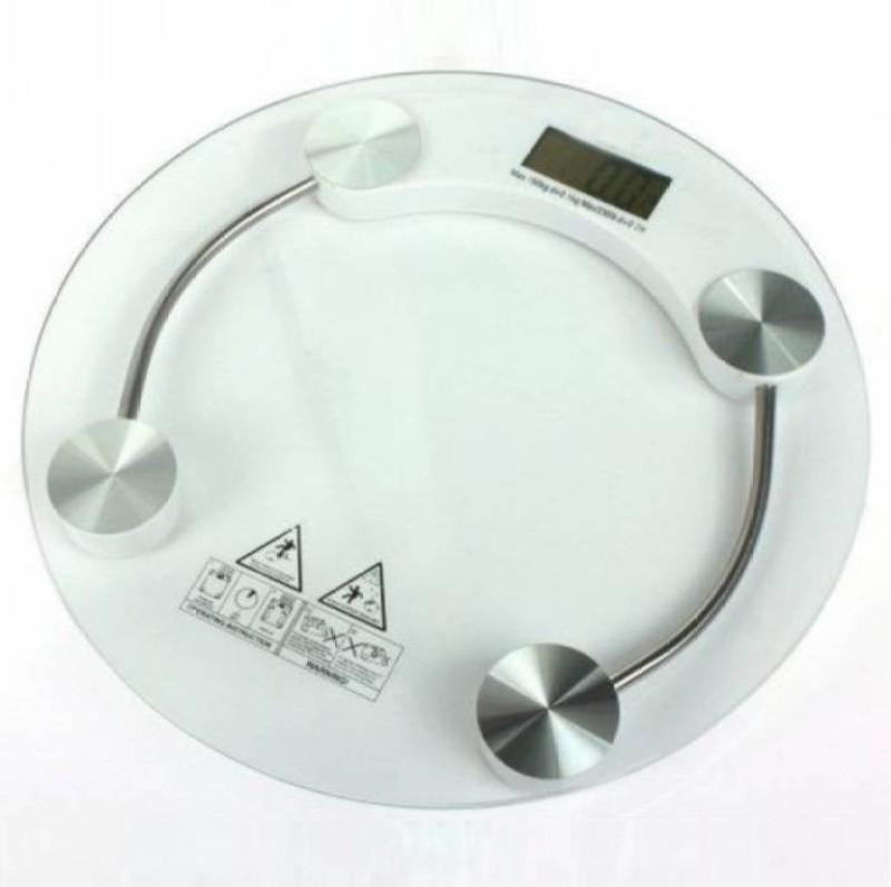 Mezire ®Personal Digital Bathroom Round Weighing Scale (White) Weighing Scale  (White) Weighing Scale(Transparent)