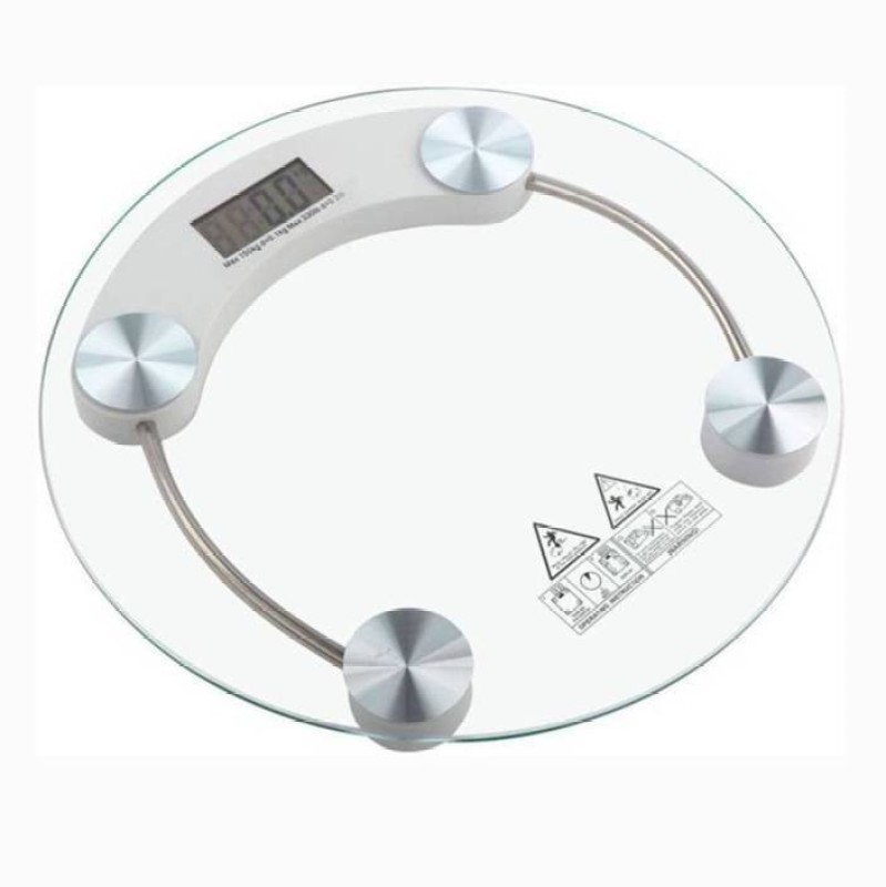 Mezire Weight Scale / Weighing Scale / Weighing Machine / Personal Weight Scale / Personal Weighing Machine / Weight Machine / Body Weight / Body Weight Machine / Transparent Weight Scale / Transparent Weighing Scale Weighing Scale (White) Weighing Scale(Transparent)