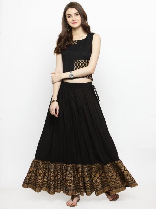 Varanga Women Top and Skirt Set