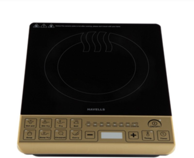 Havells Insta Cook ST-X Induction Cooktop(Gold, Black, Push Button)