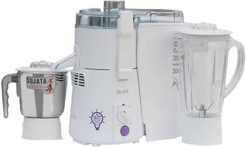 SUJATA Pwermatic Plus 900 W Juicer Mixer Grinder(White, 2 Jars)