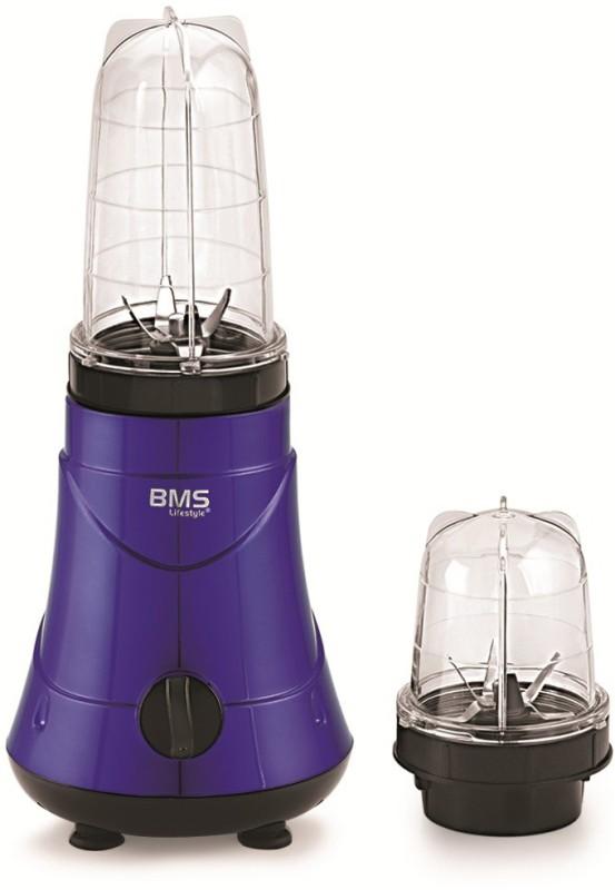 BMS Lifestyle 450-Watt High-Speed Blender_ 450 Juicer Mixer Grinder(Blue, 2 Jars)