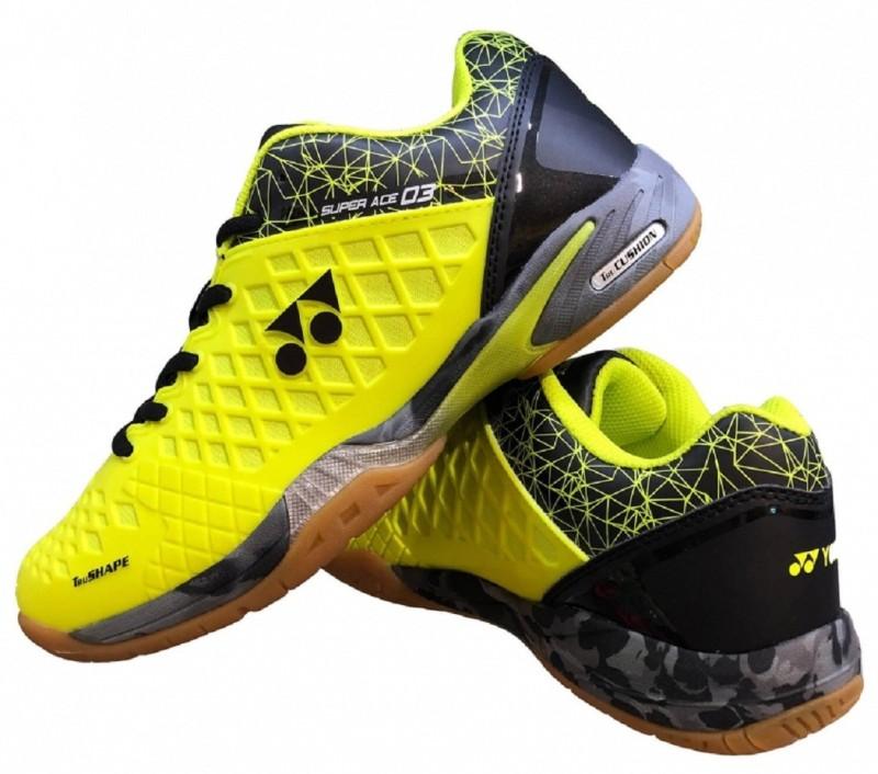Yonex B SHOES SUPER ACE03 Badminton Shoes For Men(Black, Green)