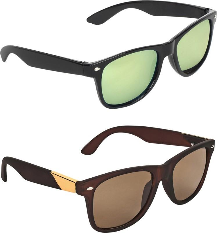 Zyaden Wayfarer, Wayfarer Sunglasses(Green, Brown) image