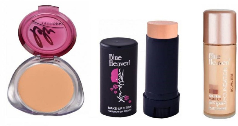 Blue Heaven personal compact ,panstick concealer with oil free foundation(3 Items in the set)