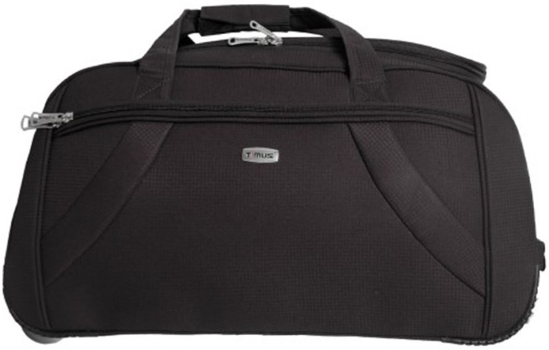 Timus 20 inch/51 cm Club Mumbai Black Duffel Strolley Bag(Black)
