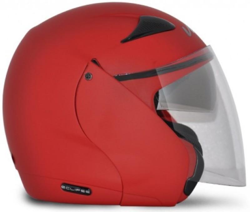 VEGA Eclipse Motorbikes Helmet Motorbike Helmet(Dull Red)