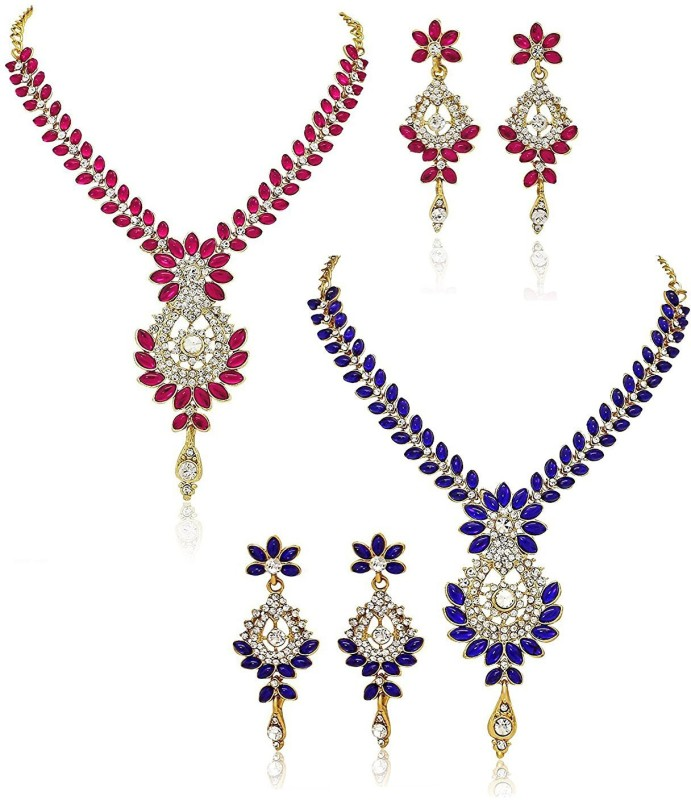 You Bella Alloy Jewel Set(Multicolor)