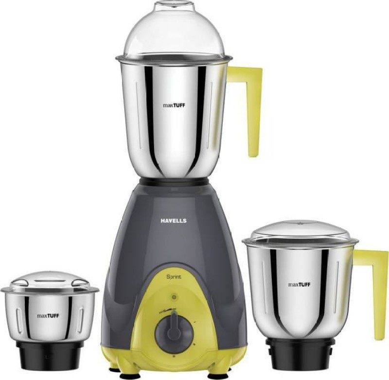 Havells Sprint 500 Mixer Grinder(Grey, 3 Jars)