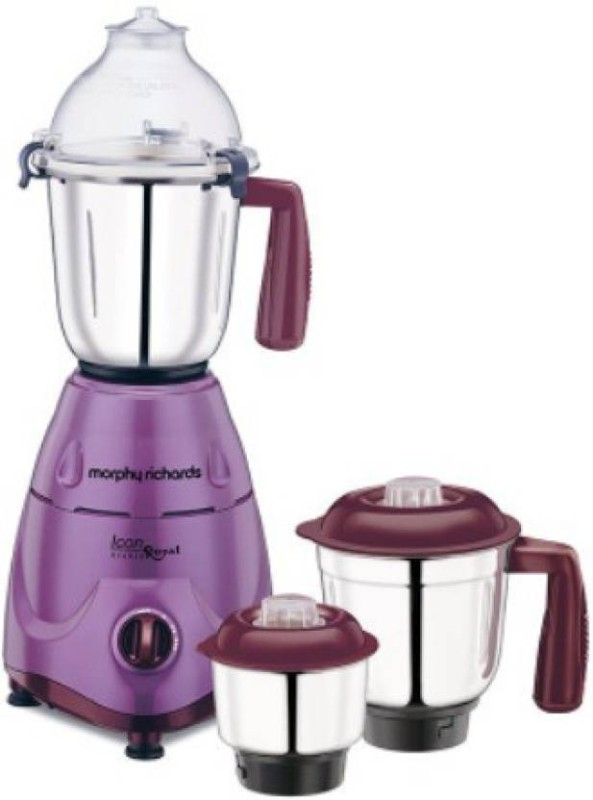 Morphy Richards NEW Icon Royal - Orchid 600 W Mixer Grinder(Orchid, 3 Jars)