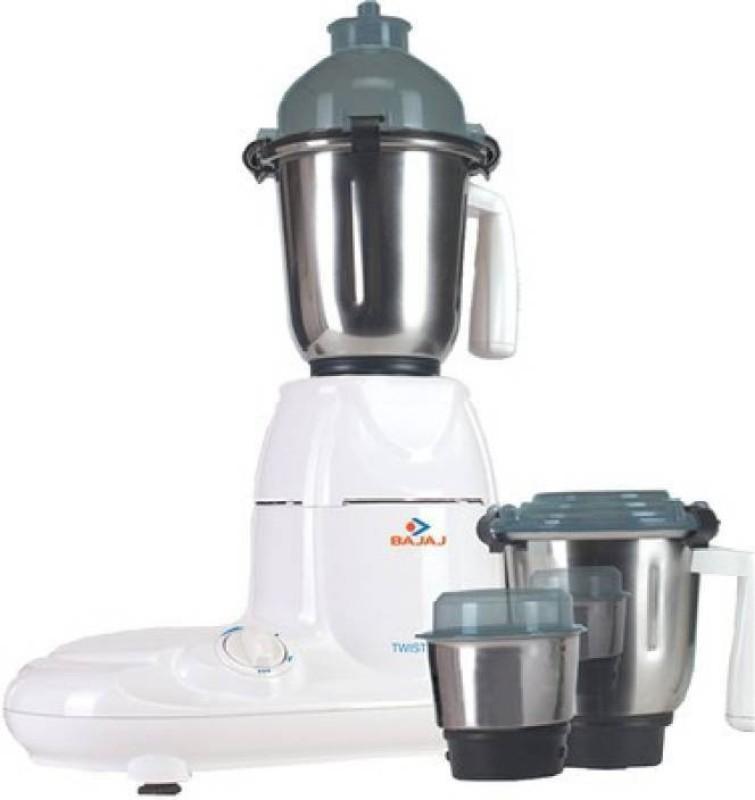 Bajaj Twister 750 W Mixer Grinder(White, 3 Jars)