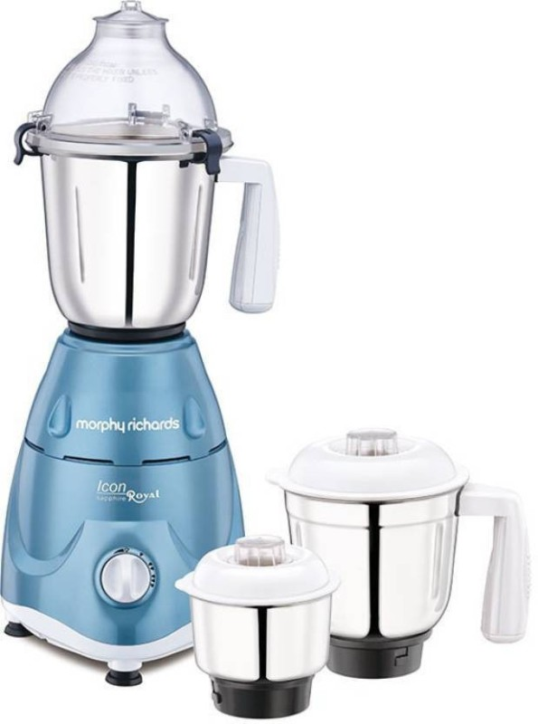 Morphy Richards NEW Icon Royal - Sapphire 600 W Mixer Grinder(SAPPHIRE, 3 Jars)
