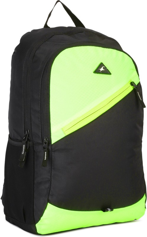Fastrack A0697NGR01 20 L Backpack(Black, Green)
