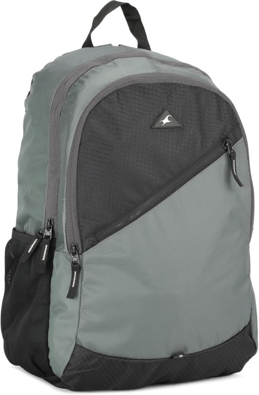Fastrack A0697NGY01 20 L Backpack(Black, Grey)
