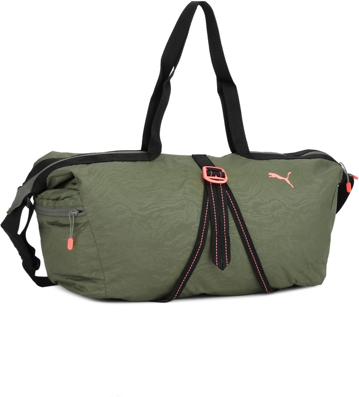 Puma Fit AT Workout Bag Travel Duffel Bag(Green)