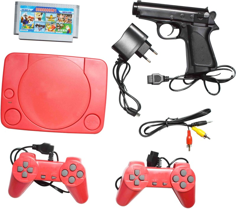 VK MART KJM-05 01230 8 BIt TV Video Game with Super Mario, Fifa Soccer 2000, Olympic 2000, Duck Hunt, Long Jump, Clay shotting, Galaxian(Multicolor)