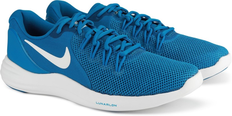 Nike NIKE LUNAR APPARENT Walking Shoes For Men(Blue)