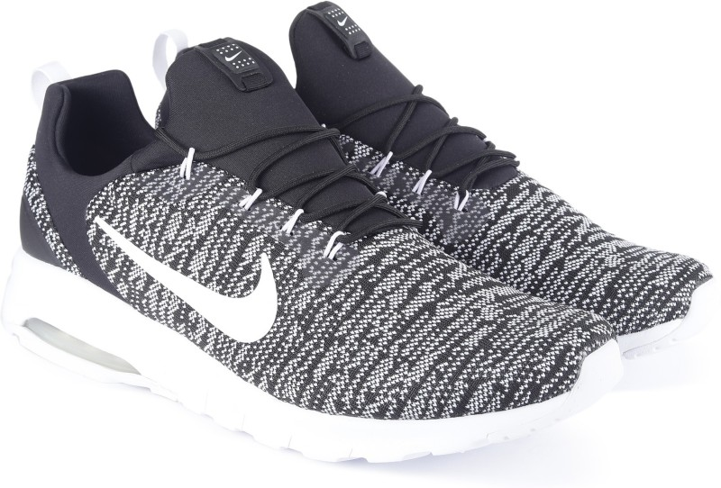 Nike NIKE AIR MAX MOTION RACER Walking Shoes For Men(Black, White)