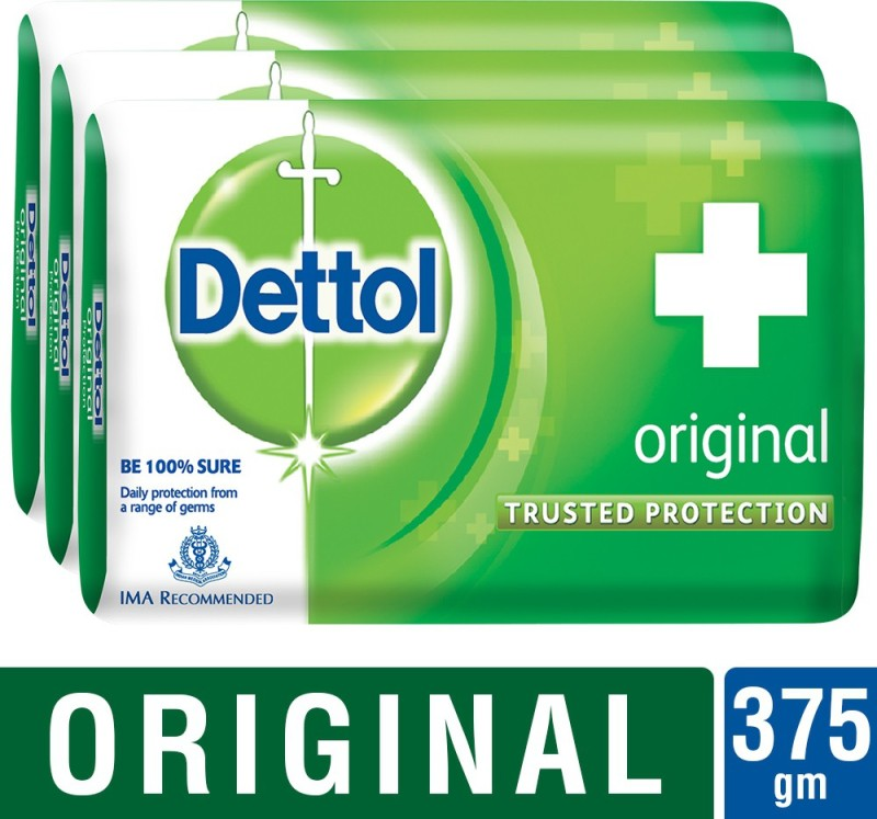 Dettol Original Trusted Protection 125g x 3(375 g, Pack of 3)