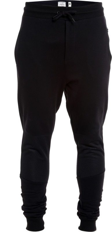 Jack & Jones Solid Men Black Track Pants