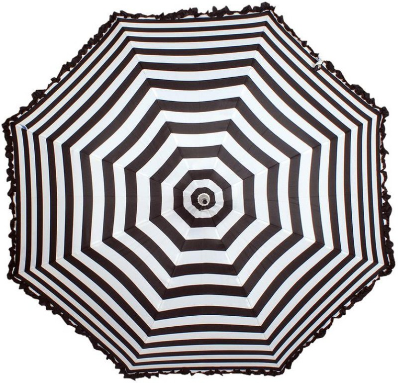 Johns Lady Pagoda 3 Umbrella(Black, White)