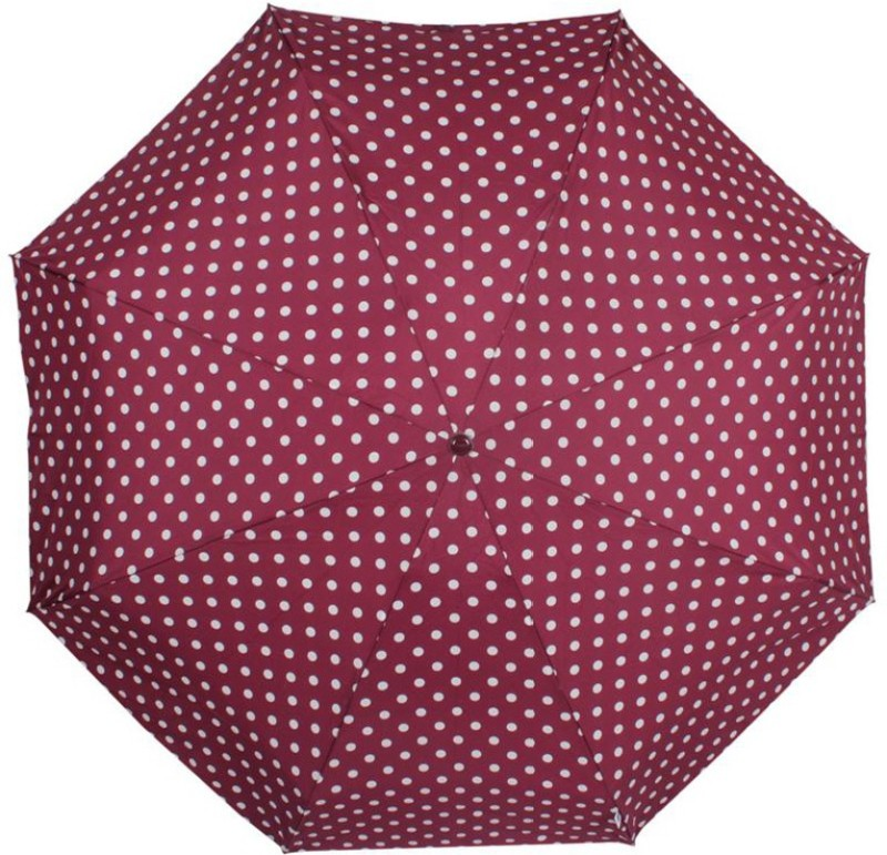 Johns Big Polka Atom 7 Umbrella(Maroon)