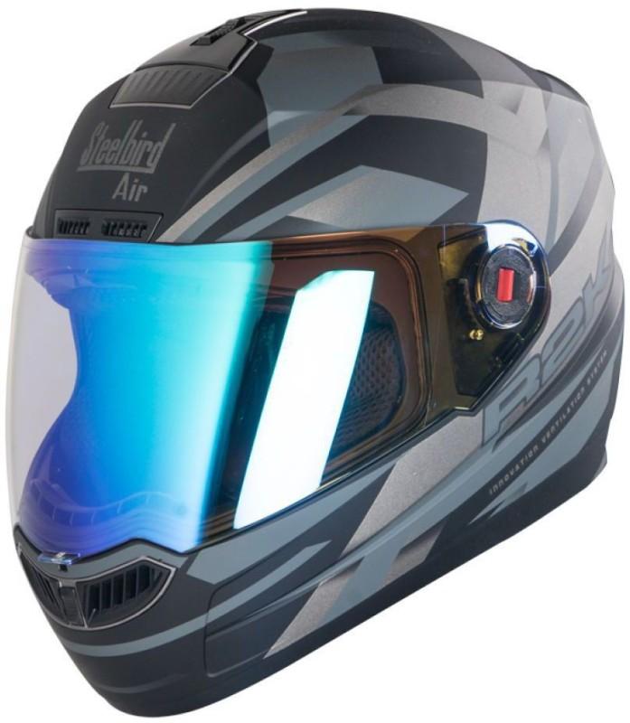 Steelbird AIR R2K NIGHT VISION Motorbike Helmet(Black/Grey)