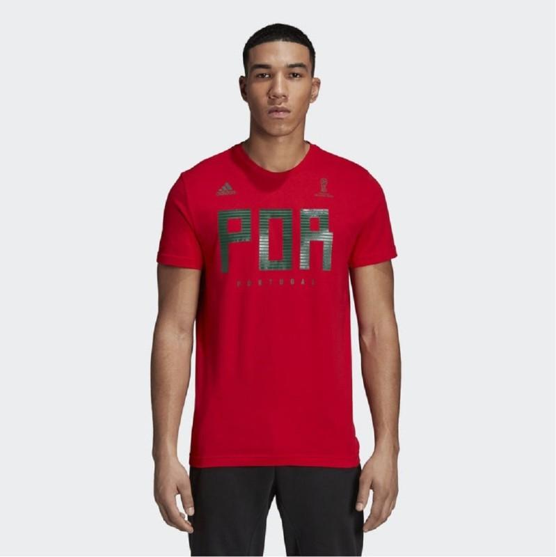 ADIDAS Printed Men Round or Crew Red, Green T-Shirt