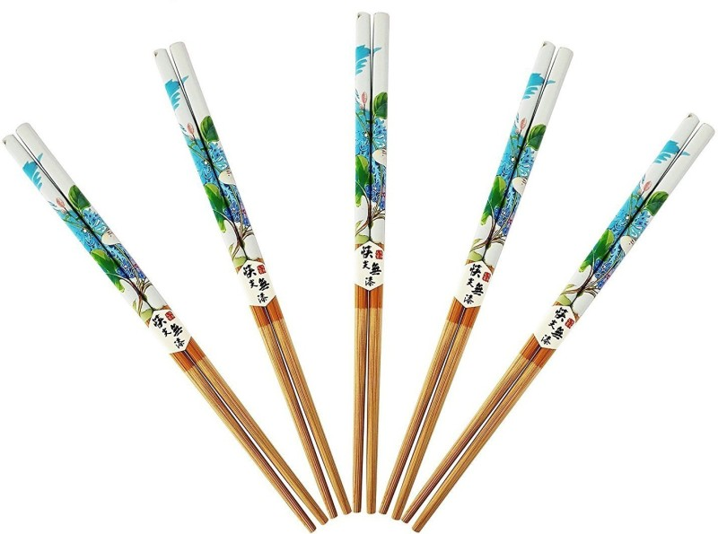 AASA Eating, Decorative Wooden Japanese Chopstick(Multicolor Pack of 5)