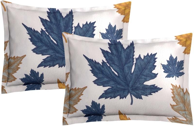 Metro Living Self Design Pillows Cover(Pack of 2, 44 cm*66 cm, Brown)