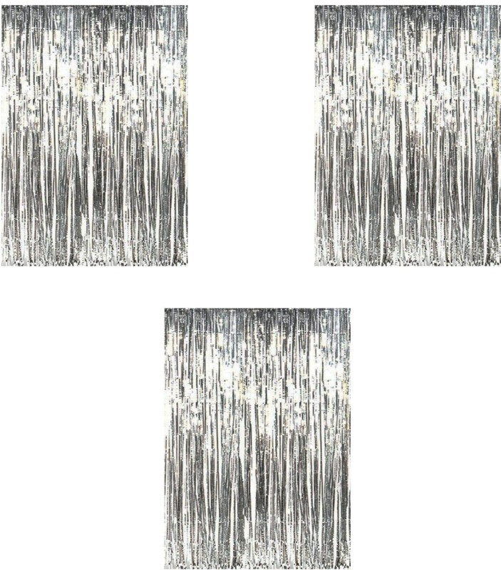 check MRP of door curtains set of 3 Party Propz