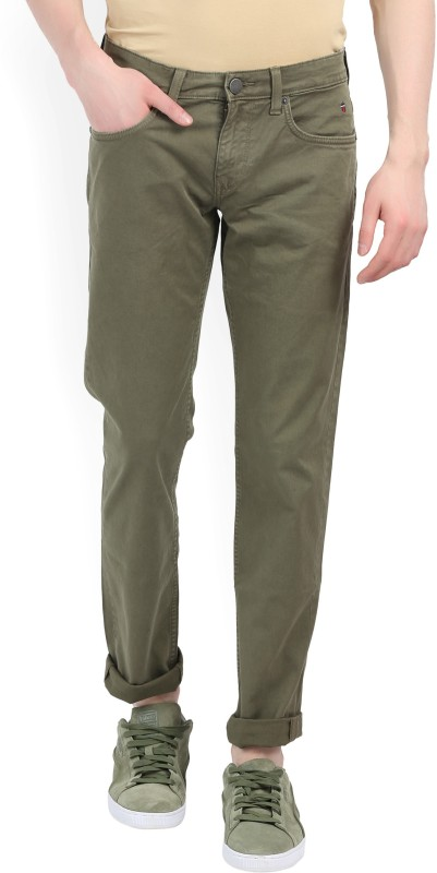 LP Jeans by Louis Philippe Slim Men's Green Jeans