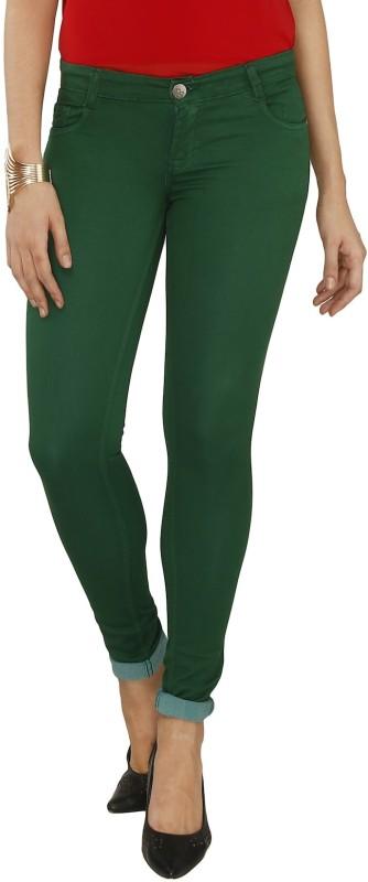 Fashion Stylus Slim Women Green Jeans