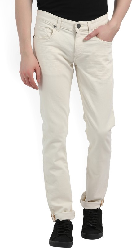 LP Jeans by Louis Philippe Regular Men White Jeans
