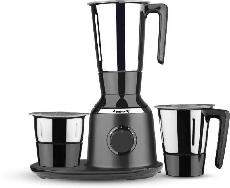 Butterfly Spectra 750 Mixer Grinder(Black, 3 Jars)