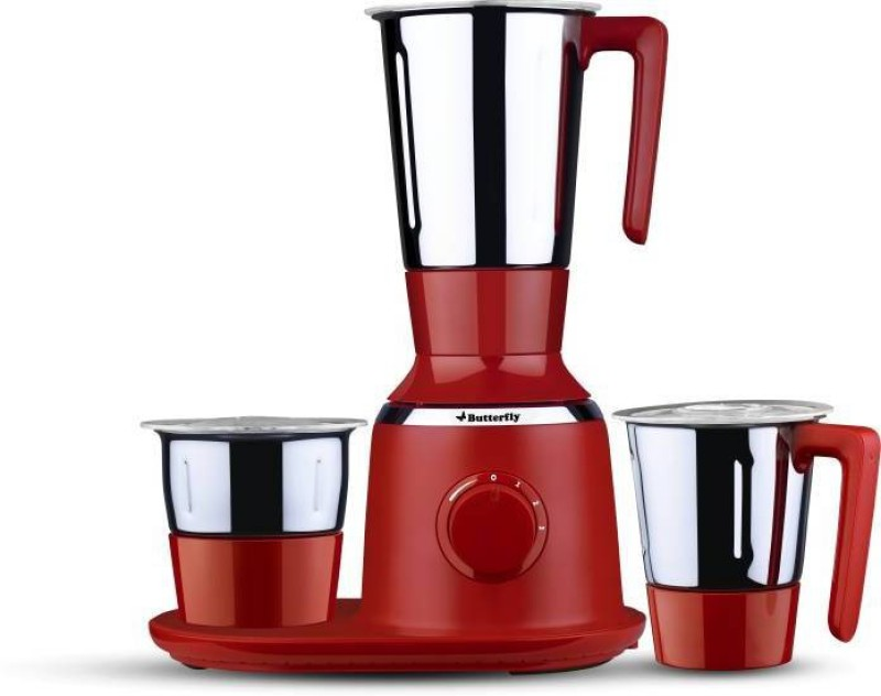 Butterfly Spectra 750 Mixer Grinder(Red, 3 Jars)