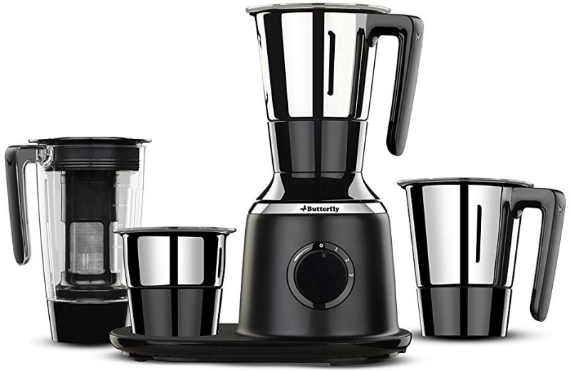 Butterfly Spectra 750 Juicer Mixer Grinder(Black, 4 Jars)