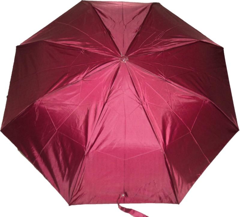 K.C Paul Soumi 3 Fold Umbrella(Maroon)
