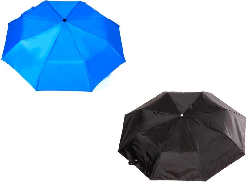 Anchor 3 Fold Auto Open Blue,Black Umbrella(Blue, Black)
